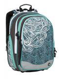Dívčí školní batoh BAGMASTER ELEMENT 9 A TURQUOISE/WHITE/GRAY