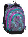 Dívčí studentský batoh BAGMASTER ENERGY 9 C VIOLET/GREEN/GRAY