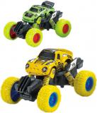 Auto Monster Car 1:60 zpětný chod velká kola 2 druhy kov