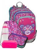 Dívčí školní batoh pro prvňáčky v setu BAGMASTER Velký SET ALFA 9 A