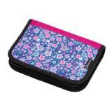Dívčí školní penál jednochlopňový BAGMASTER CASE ALFA 20 A BLUE/PINK/WHITE, roztomilé pro dívky, květiny, jemnost, nová kolekce,