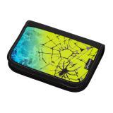 Klučičí školní penál pavouk BAGMASTER CASE ALFA 20 C BLUE/GREEN/YELLOW/BLACK, spider, pavučina pro kluky, strašidelný