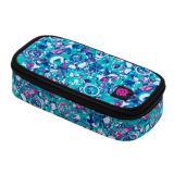 Studentský penál BAGMASTER CASE ENERGY 20 B WHITE/PINK/VIOLET/BLUE, barevný, stylový pro holky, nová kolekce