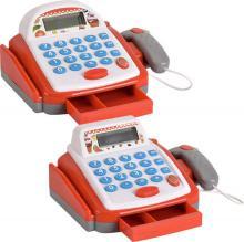 Pokladna dětská registrační s kalkulačkou a skenerem na baterie různé druhy