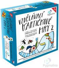 PYGMALINO Vzdělávací kartičkové hry 2 4v1 v krabici *SPOLEČENSKÉ HRY*