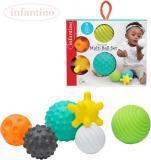 INFANTINO Baby Míčky barevné s texturami set 6ks balonky pro miminko