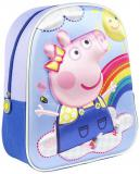 Batoh dětský na záda Prasátko Peppa 3D (Peppa Pig) holčičí