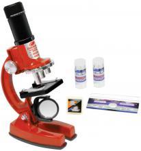 Mikroskop dětský 100/200/450x set s doplňky na baterie Světlo
