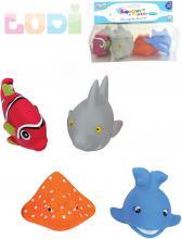 LUDI Baby stříkací rybky do vody set 4ks na koupání pro miminko