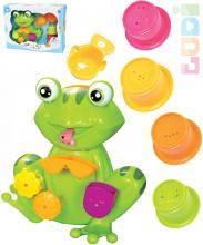LUDI Baby žabák mlýnek s přísavkou do koupele set s kelímky pro miminko