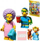 LEGO Minifigurka plastová set s doplňky v sáčku Simpsonovi 2.serie 16 druhů