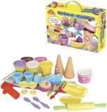 Zmrzlinová dílna kreativní set modelína 5 kelímků s nástroji a doplňky v krabici
