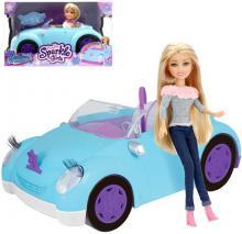 Panenka Sparkle Girlz Coupe set s autíčkem cabriolet v krabici