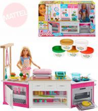 MATTEL BRB Kuchyně snů set panenka Barbie s modelínou a doplňky Světlo Zvuk