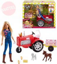 MATTEL BRB Panenka Barbie farmářka set s traktorem a doplňky plast