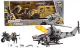 Combat Force herní set vojenský vrtulník s figurkou + auto / motorka v krabici