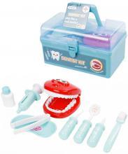 Malý dentista set zubařské nástroje s chrupem 10ks v přenosném kufříku plast