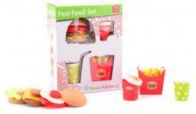 Baby fast food velká sada dětské makety potravin 15ks rychlé občerstvení plast
