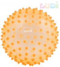 LUDI Baby míček senzorický oranžový s výstupky relaxační balonek pro miminko