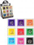 Hra Hlavolam kovový 9 druhů v krabičce