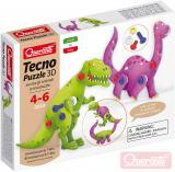 QUERCETTI Tecno Puzzle pohyblivé 3D brontosauři 26 dílků STAVEBNICE