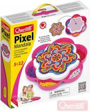 QUERCETTI Mozaika Pixel Mandala daisy set 1200 kloboučků 5mm s předlohami
