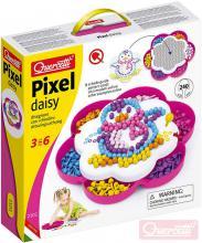QUERCETTI Hra Pixel Daisy mozaika kopretina s kolíčky set 240ks + 3 předlohy