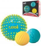 LUDI Míček senzorický s výstupky set 3ks měkké balonky pro miminko