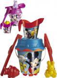UNICE Set na písek Mickey / Minnie kyblík s konvičkou a nástroji 6ks plast 2 druhy