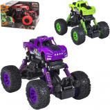 Auto terénní 4x4 Monster velká kola 1:43 zpětný chod fialové