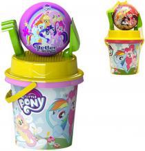 Kyblík My Little Pony pískový set se 2 nástroji a míčkem plast 2 druhy