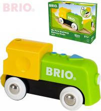 BRIO Baby moje první mašinka elektrická na baterie 9cm doplněk k vláčkodráze