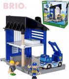 BRIO Policejní stanice set 6ks se 2 figurkami na baterie Světlo Zvuk 33813