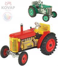 KOVAP Traktor Zetor solo 1:25 kovový na klíček 3 rychlosti s převodovkou