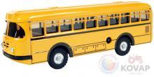 KOVAP Dopravní prostředky autobus plechový 1:43 na klíček 20cm Kov 0492