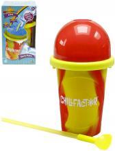 Chillfactor Slushy Maker výroba ledové tříště dětský shaker Žlutočervený plast