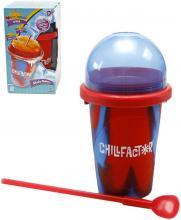 Chillfactor Slushy Maker výroba ledové tříště dětský shaker Modročervený plast