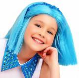 KARNEVAL Paruka dětská Lollipopz Bára modrá umělé vlasy