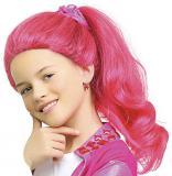 KARNEVAL Paruka dětská Lollipopz Lara růžová umělé vlasy