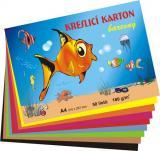 Kreslicí karton A4 180g/50 listů mix barev