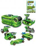 Stavebnice vozidla 7v1 modely na solární pohon / na baterie plast
