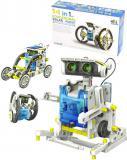 STAVEBNICE Solární robot obojživelník 14 modelů 14v1 na baterie v krabici