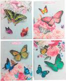 3D Taška dětská dárková Motýlci 18x24cm 4 druhy karton