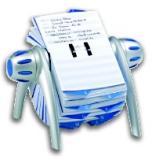 Pořadač na vizitky Telindex stříbrný