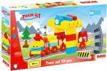 DOLU Baby souprava barevná vlaková 58 dílků vláček s čísly pro miminko