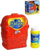 Stroj na bubliny dětský bublifukovač na baterie set s roztokem plast
