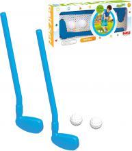 DOLU Set golfový pálka plastová modrá 2ks + míček 2ks malý golfista