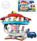 SPIN MASTER Hlídkovací věž Tlapková Patrola s figurkou a autem na baterie Světlo Zvuk
