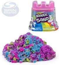 SPIN MASTER Kinetic Sand písek magický duhové barvy ve formičce hrad