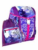 Dívčí školní aktovka-batoh s jednorožcem v setu Bagmaster MINI SET POLO 6 A